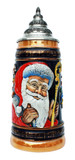 Christmas Ceramic Beer Stein with Lid