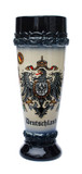 Stoneware Wheat Beer Glass with Eagle & Crown Crest Motif