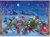 Santa in his Sleigh German Advent Calendar