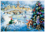 Ice Skating Scene Christmas German Advent Calendar