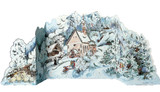 Wooden Xmas Novelty German Advent Calendar