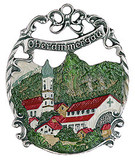 Oberammergau German Pewter Christmas Tree Ornament