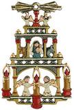 German Christmas Pyramid Pewter Ornament
