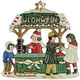 Gluehwein Stand German Pewter Christmas Ornament