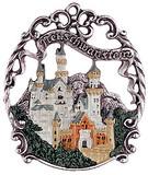 Neuschwanstein Castle German Pewter Christmas Tree Ornament