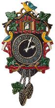 Traditional German Pewter Cuckoo Clock Christmas Ornament