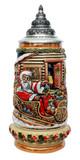 Santa in Sleigh Christmas Beer Stein