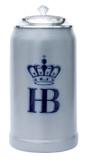 Hofbrauhaus HB 1 Liter Salt Glaze Stoneware Beer Stein