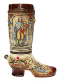 German Ceramic Beer Boot 2 Liter