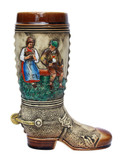 German Ceramic Beer Boot 1 Liter