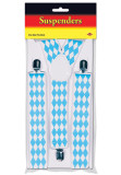 Bavarian Flag Oktoberfest Party Suspenders