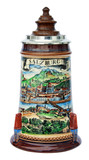 Old Salzburg Beer Stein with Wood Lid
