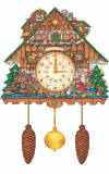 Large German Christmas Cuckoo Clock Advent Calendar