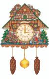 Large German Christmas Cuckoo Clock Advent Calendar