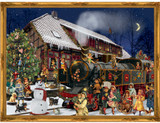 Victorian Christmas Train Station German Advent Calendar