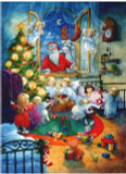 Santa and Angels German Advent Calendar