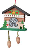 Cuckoo Clock with Deer German Christmas Ornament