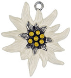 Edelweiss German Pewter Christmas Ornament