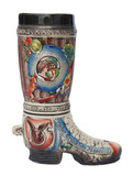 German Ceramic Hunters Beer Boot 1 Liter