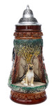 German Shepherd Wildlife Beer Stein
