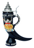 Denmark Viking Drinking Horn Beer Stein