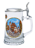 Authentic German Beer Stein with Traditional Painting of Rothenberg