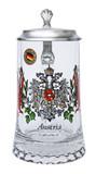 Austria Crest Glass Beer Stein