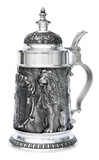 Land of Bavaria Pewter Beer Stein