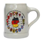 Deutschland Map German Stoneware Beer Mug 0.5 Liter