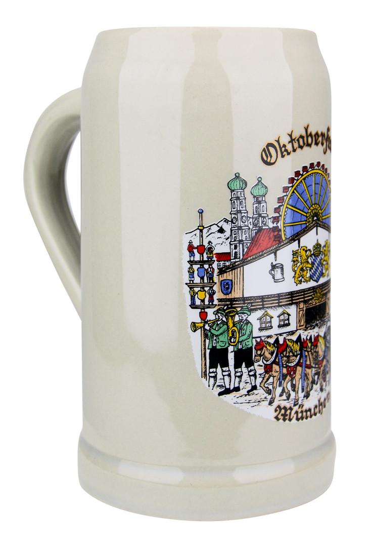 Oktoberfest Stoneware Beer Mug 1 Liter Germansteins Com