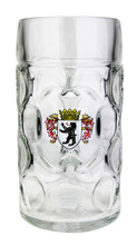 Authentic German Glass Beer Mug with Personalized Engraving