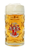 Becks Dimpled Oktoberfest Glass Beer Mug 0.5 Liter
