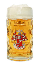 Traditional Glass German Beer Mug with Handle