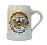 Deutschland and State Crests German Stoneware Beer Mug 0.5 Liter