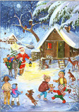 Santa comes to a Mountain Village German Advent Calendar