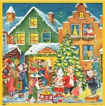 mouse christmas village colorful german advent calendar
