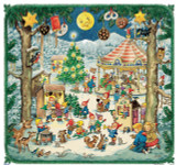 Elf Christmas Festival Scene German Advent Calendar