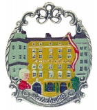 Mozarts House in Salzburg Pewter Christmas Ornament