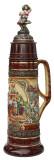 12 Liter Beer Stein with Dancing Bavarian Couple Lid