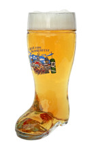 Hofbrauhaus logo designed glass beer boot