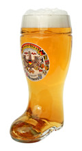 Authentic 1 Liter Beer Boot with German Eagle