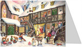 Santa Claus German Advent Calendar Christmas Card