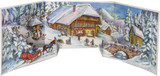 Alpine Chalet Panorama 3D German Advent Calendar