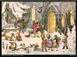 Children with Animals German Christmas Advent Calendar