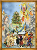 Victorian Angel Stairway German Advent Calendar