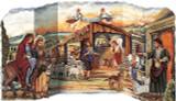 3D Nativity Scene German Advent Calendar-Free Standing