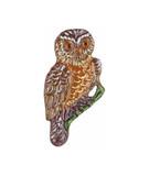 Owl German Pewter Pin