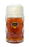 Deutschland Eagle Crest Dimpled Oktoberfest Glass Beer Mug 1 Liter