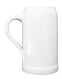 White Glaze Stoneware Beer Mug 1 Liter
