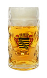 Traditional 0.5 Liter Oktoberfest Beer Mug with Sachsen Crest